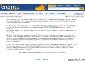 ENOM(国外域名商)网站注册会员解释说明