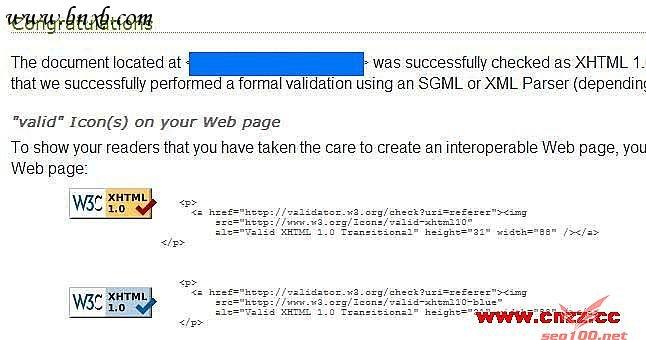 w3c xhtml 1.0认证