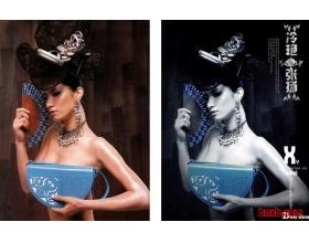 photoshop高级技巧三:打造美女冷艳张扬蓝色调