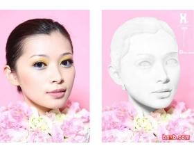 用photoshop把真人头像转石膏雕像