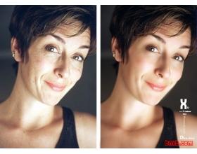 用photoshop将皮肤处理细嫩的简单方法