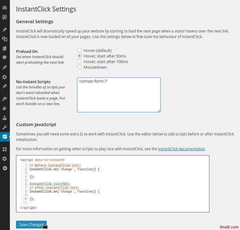 instantclick一个可以提高网站响应速度的JS脚本