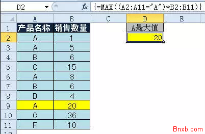 Excel表格计算各种最值 最大值最小值最接近值出现率最高值的计算方法
