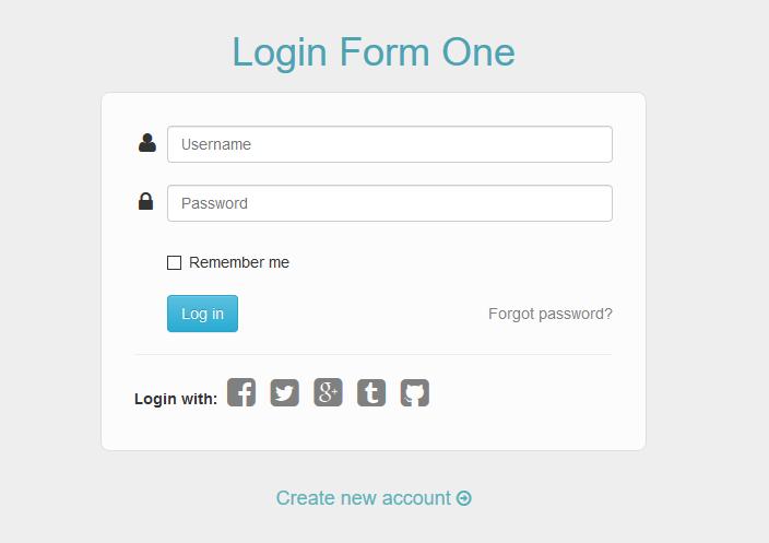多款css3实用后台LOGIN登录框html模板