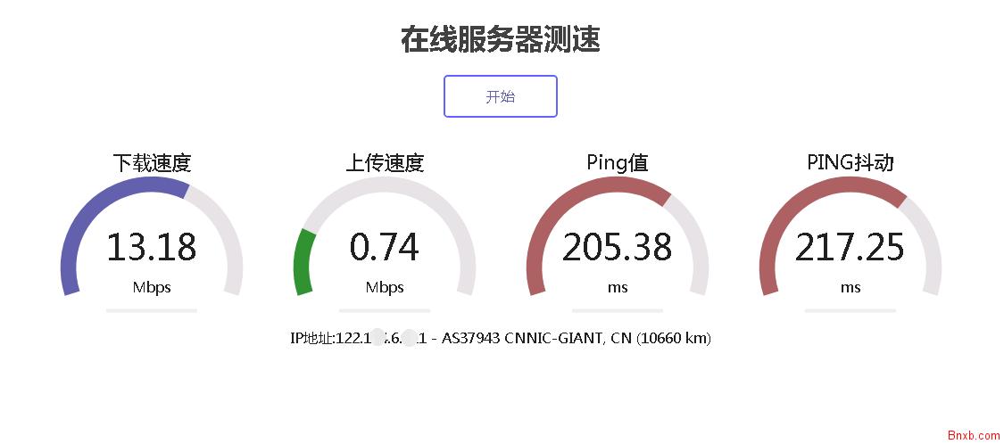 speedtest汉化版 html5speedtest 网站测速程序 PHP在线测PING值网站测速