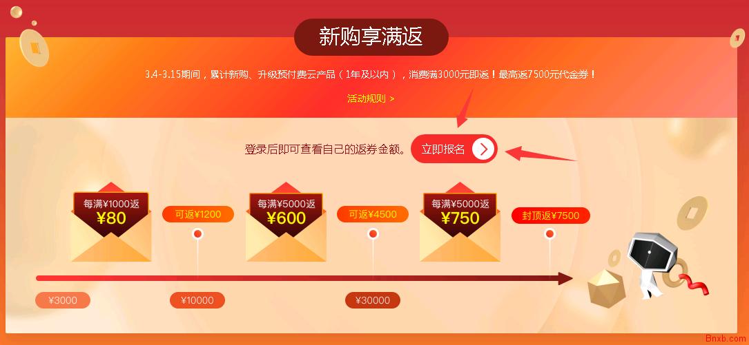 阿里云轻量香港年付半价 1H1G 30M带宽 144/年